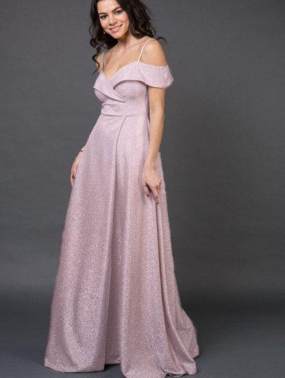 Длинное нарядное вечернее платье на выпускной с разрезом, фото 1