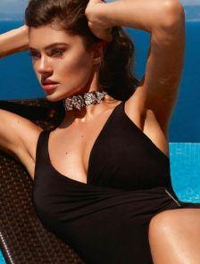 Слитный черный утягивающий купальник большого размера Marc&Andre