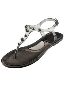 Летние пляжные силиконовые черные сандали Marc & Andre