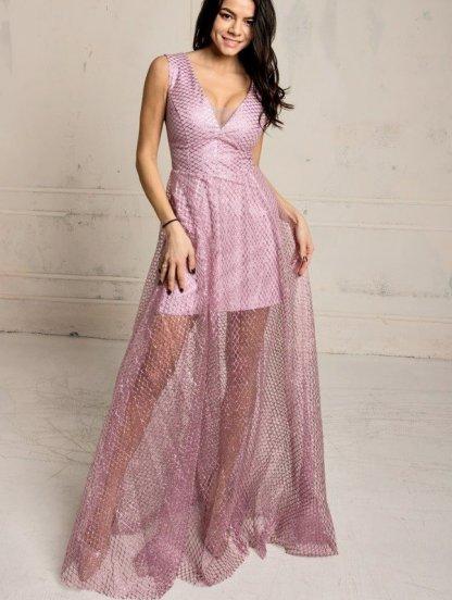 Длинное вечернее нарядное платье с блестящим напылением, фото 1