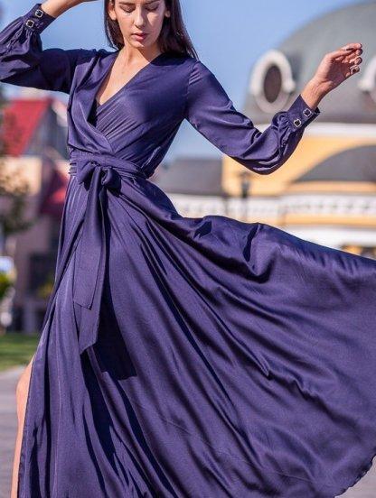 Длинное нарядное вечернее платье на запах, фото 1