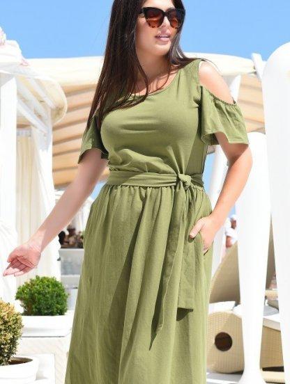 Летнее длинное хлопковое платье, фото 1