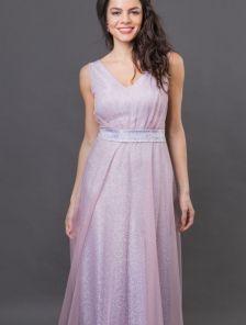 Длинное нарядное пышное блестящее вечернее платье на выпускной