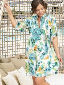 Натуральное тонкое платье туника на жаркое лето