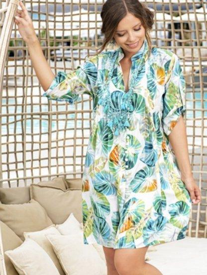 Натуральное тонкое платье туника на жаркое лето, фото 1