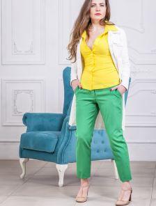 Короткие летние женские брюки с низкой талией