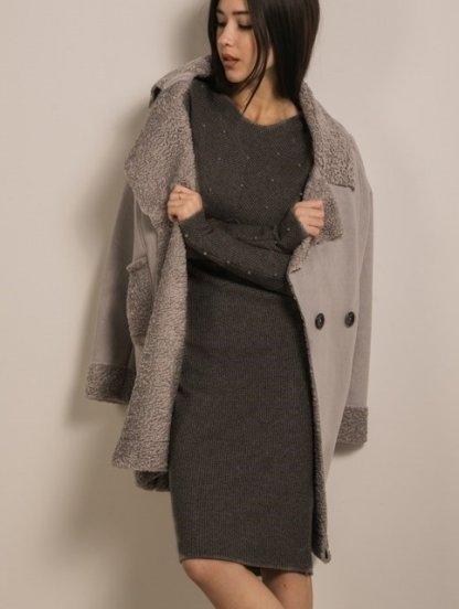 Трикотажное черное платье футляр с бусинами, фото 1