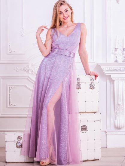 Длинное нарядное пышное блестящее вечернее платье на выпускной, фото 1
