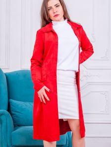 Красное платье кардиган в офис