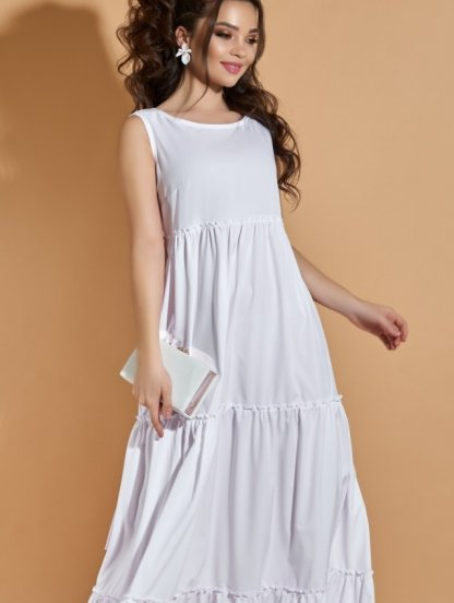Легкое белое длинное платье на лето, фото 1