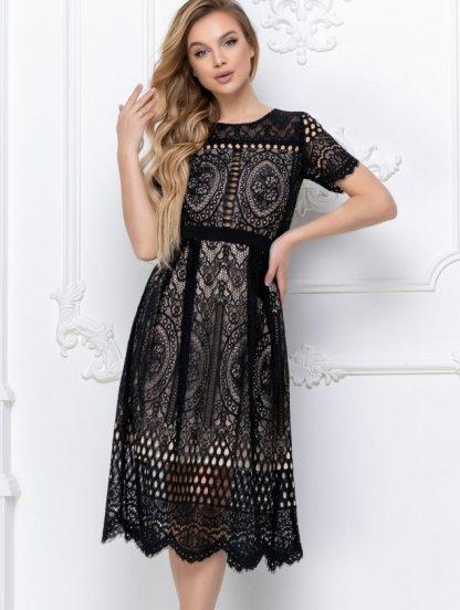 Короткое кружевное платье большого размера, фото 1