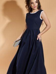 Легкое длинное платье из льна на лето