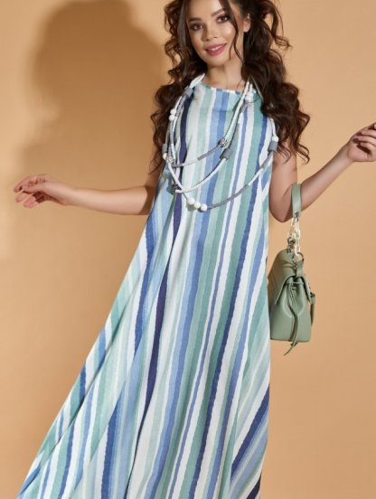 Повседневное длинное платье на лето, фото 1