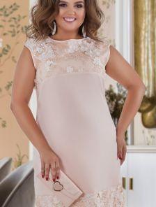 Большое светлое летнее нарадное платье на день рождения, корпоратив или свадьбу