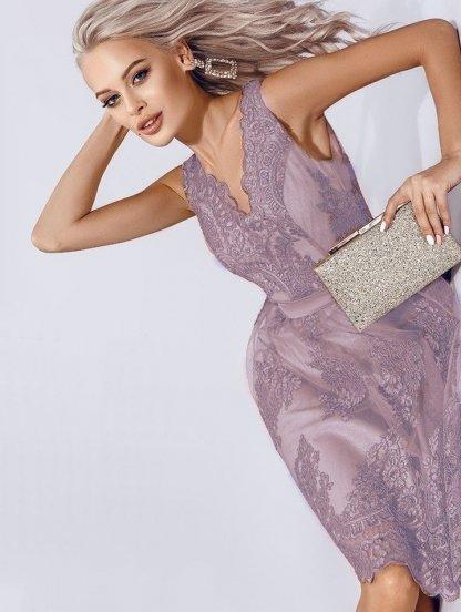 Кружевное ассимеричное платье на выпускной, фото 1