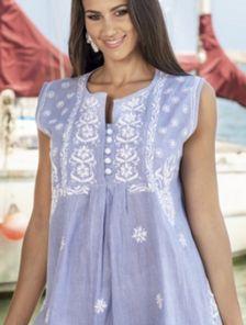 Натуральное легкое платье на лето
