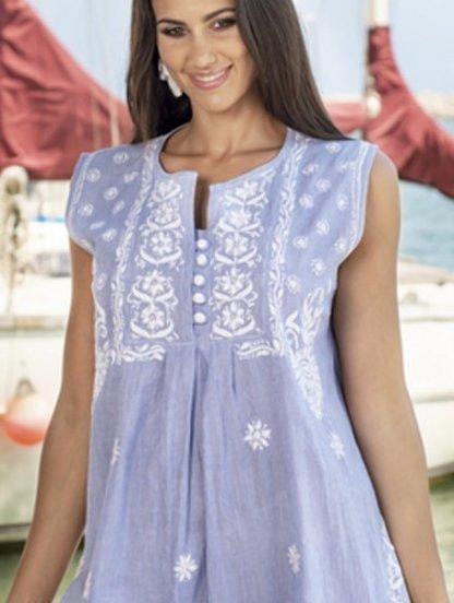 Короткое легкое платье из хлопка, фото 1