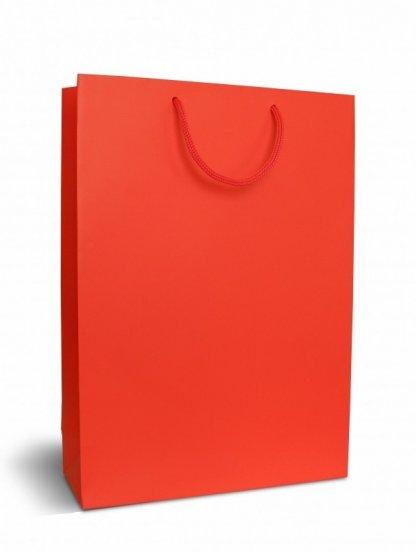 Пакет подарочный красного цвета крафтовый, фото 1
