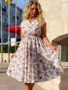 Нарядное летнее платье большого размера миди длины