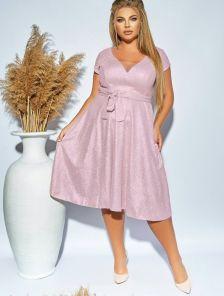 Вечернее платье большого размера на короткий рукав