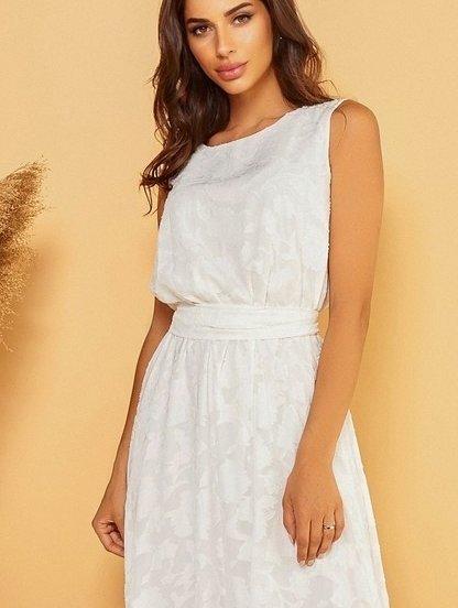Нарядное длинное белое платье, фото 1