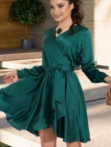 Короткое нарядное летнее платье на запах