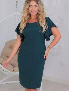 Короткое нарядное платье футляр большого размера в офис