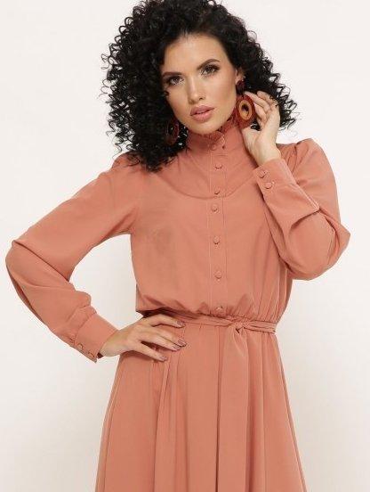 Длинное яркое платье рубашка на пуговицах на длинный рукав, фото 1