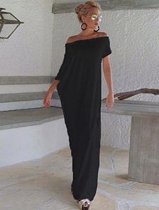 Темное длинное платье сарафан на лето