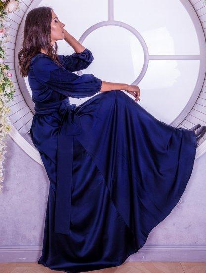 Длинное платье большого размера с рукавами фонариками, фото 1