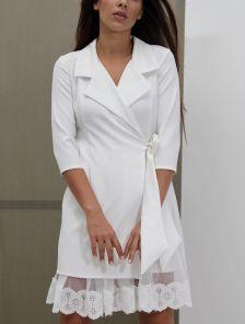 Белое нарядное платье пиджак