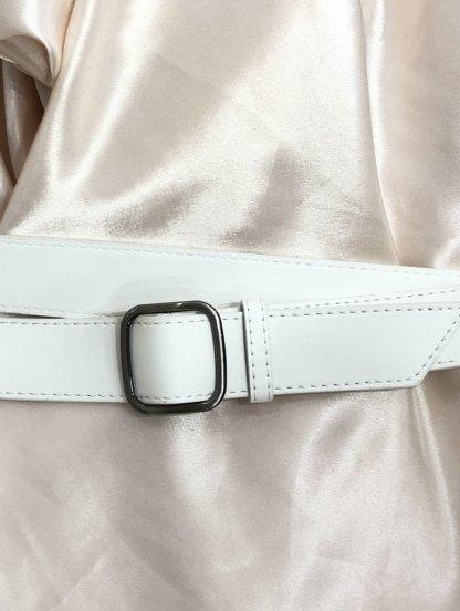 Белый женский пояс шириной 3 см универсальный, фото 1