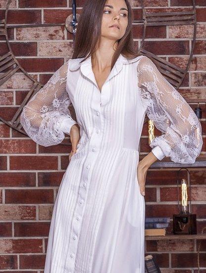 Летнее длинное белое нарядное платье в пол под кеды или кроссовки, фото 1