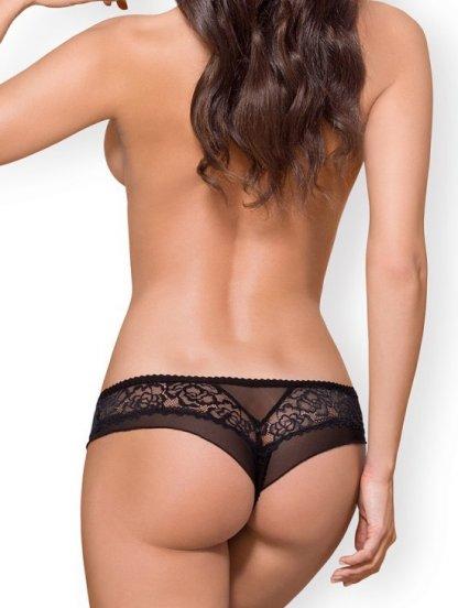 Черные сексуальные кружевные трусики-бразилиана от Obsessive, фото 1