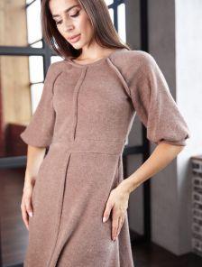 Теплое короткое повседневное платье