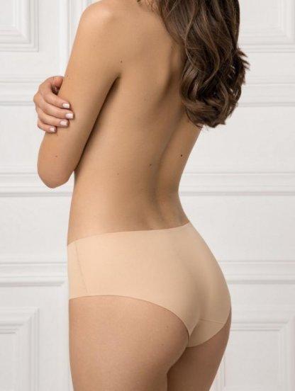 Удобные бесшовные трусики-шорты телесного цвета, фото 1