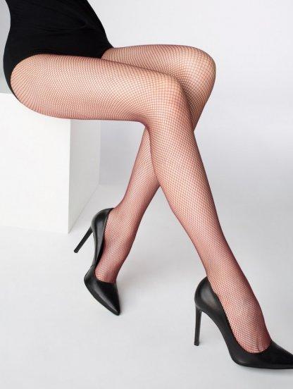 Женские колготки с микро сетки без шортиков с легким загаром, фото 1