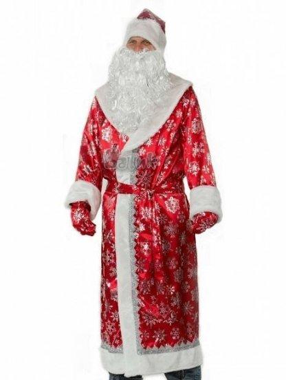 Мужской костюм Деда Мороза в красном цвете, фото 1