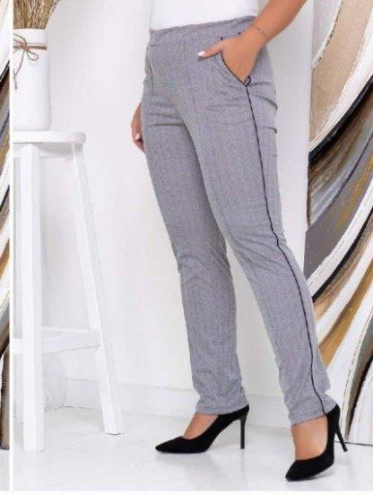 Серые брюки на высокой посадке с поясом, фото 1