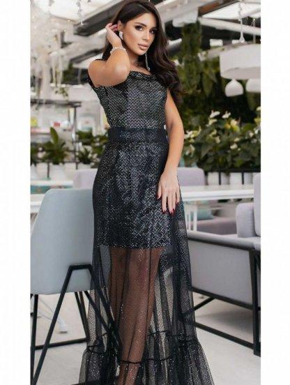 Легкое платье трансформер с серебристой пайеткой, фото 1
