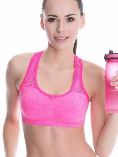 Спортивный бюстгалтер топ розового цвета, фото 1