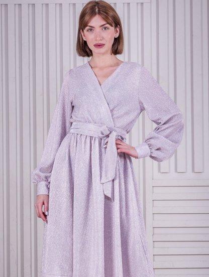 Нарядное розовое блестящее платье, фото 1