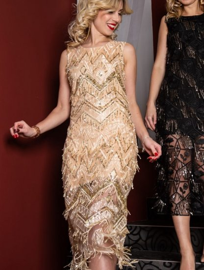 Вечернее платье с сеткой и с пайетками, фото 1