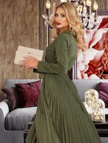 Платье из эко-замши ниже колен