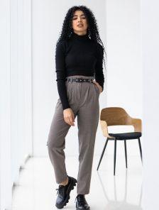 Облегающие женские брюки с завышеной талией