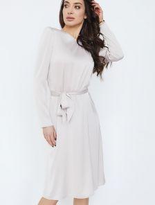Шелковое нарядное платье молочного цвета