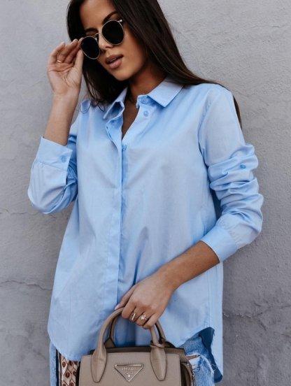 Рубашка голубая классическая, фото 1