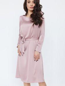 Шелковое платье прямого кроя