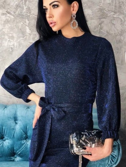 Короткое блестящее нарядное платье футляр, фото 1
