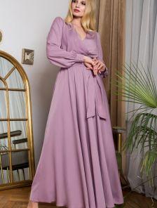 Длинное светлое платье для полных большого размера